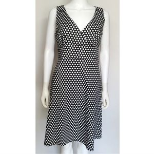 Faux Wrap Polka Dot Print Sheath Dress